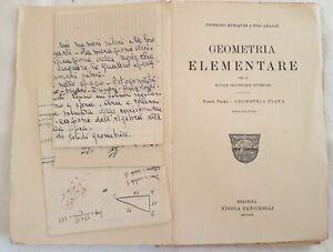 FEDERIGO-ENRIQUES-UGO-AMALDI-GEOMETRIA-ELEMENTARE-PIANA-1923-MATEMATICA-SCIENZA