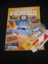 AC896 SOLIDO HACHETTE FIAT 600 D 1963 1/43 UN SCIECLE D'AUTOMOBILES
