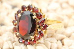 Granatschmuck Gold Ring 333 Gelbgold 8K Mittelstein ca. 5,70 ct. 7,58g Gr 58
