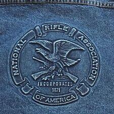 National Rifle Association NRA Jean Trucker Jacket Large Embossed Denim Tyca