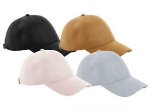 8b0723a2 Details about Beechfield BC656 Faux Suede Finish 6 Panel Peaked Baseball  Cap Fashion Hat