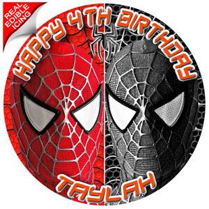 Astounding Spiderman Cake Topper Image Icing Edible Personalised Birthday Funny Birthday Cards Online Unhofree Goldxyz