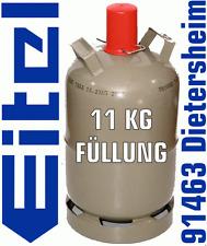 Propangas Füllung für Propangasflasche 11 kg Camping Gas im Tausch 1,27 €/Kg