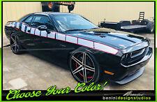 Strobe Racing Side Stripes Fits 2009 2015 2020 Dodge Challenger Srt 8 Rt Sxt