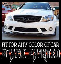 CARKING 08-11 GLOSS BLACK MERCEDES BENZ W204 C63 AMG GH style FRONT LIP SPLITTER