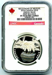 2016-10-CANADA-SILVER-PROOF-NGC-PF70-UCAM-GRIZZLY-BEAR-FIRST-RELEASES