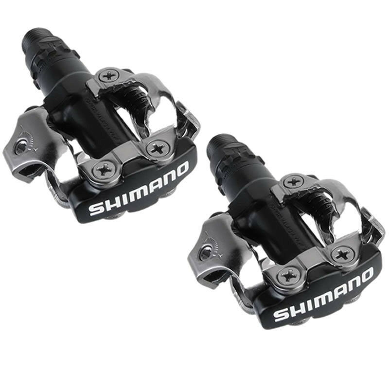 SHIMANO PD-M520 MTB  Bike  Clipless Pedals with SH51 SPD Cleats Black