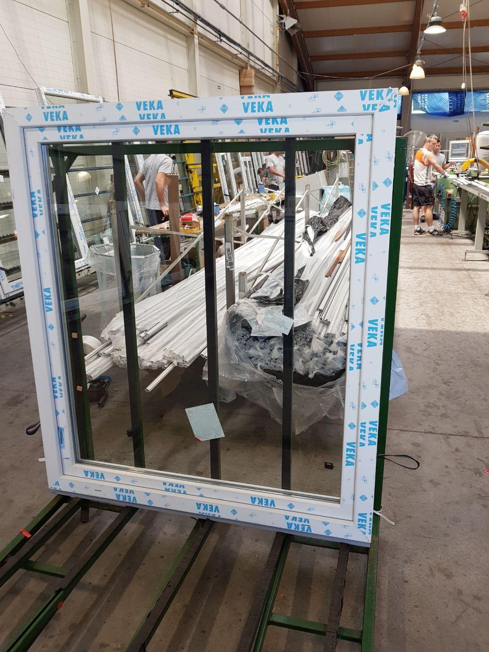 Kunststofffenster Veka 70 Fenster aus Polen Fenster Farbe Weiss   Golden Oak