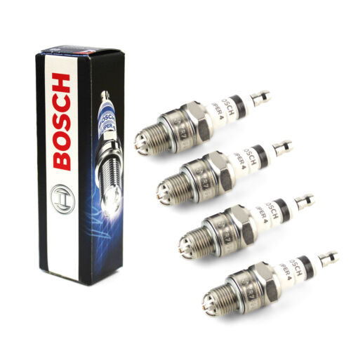 4x pour hyundai trajet 2.0 variante 1 genuine bosch super 4 spark plugs