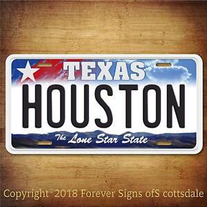Houston-Texas-City-College-Aluminum-Vanity-License-Plate
