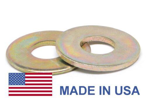 """9//16/"""" Grade 8 Flat Washer USS Pattern USA Yellow Zinc Plated"""