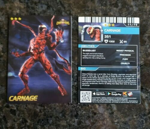 Marvel Contest Champions Dave Busters Non-Foil Regular Card 11 CARNAGE
