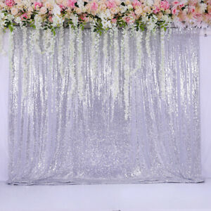 60 X84 Sequin Backdrop Silver Background Curtain Wedding Party Birthday Event 6346066238136 Ebay
