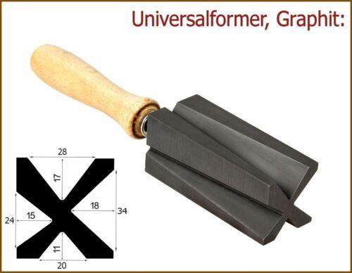 Universalformer aus Graphit Konus // Bicone // Hohlperlen!
