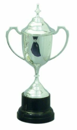 BASE LID 55CM H NEW SILVER PLATED TROPHY CUP w