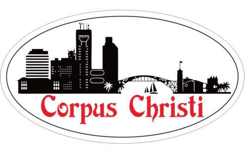 Corpus Christi Texas Oval Bumper Sticker or Helmet Sticker D3762