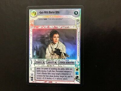 Leia With Blaster Rifle FOIL Near Mint//Mint REFLECTIONS II star wars ccg swccg