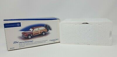 Snow Village Classic Cars 1949 Ford Woody Wagon 2000 2006 Mint