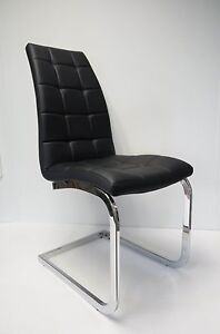 about brand new stylish pu leather metal dining chair y1208 black