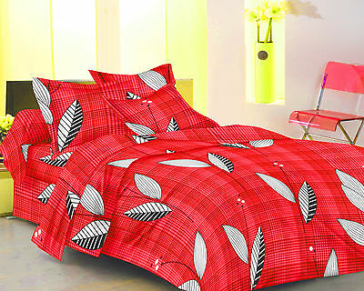 Homefabs 100% Cotton Double Bed Sheet with 2 Pillow Covers (DBS146)
