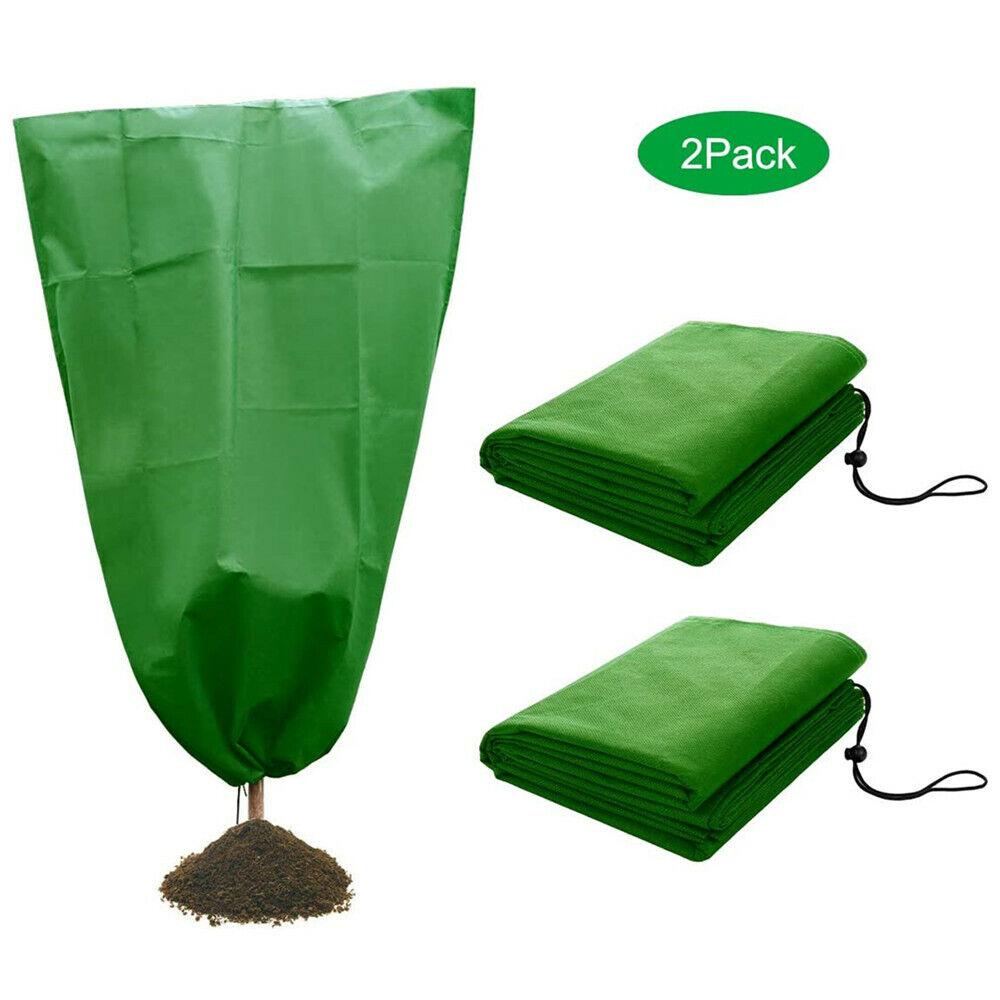 2pcs 80*60cm Warm Worth Plant Bag Tree Shrub Frost Protection Plant Cover