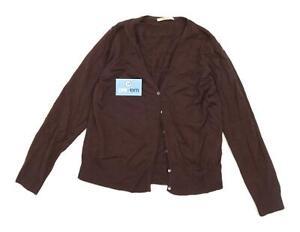 Selective-Womens-Size-18-Merino-Wool-Blend-Brown-Cardigan-Regular