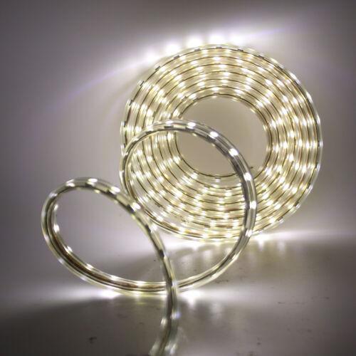 High Bright LED Strip 220V 5050 SMD 60LED//M Waterproof Tape Lights Rope+UK Plug