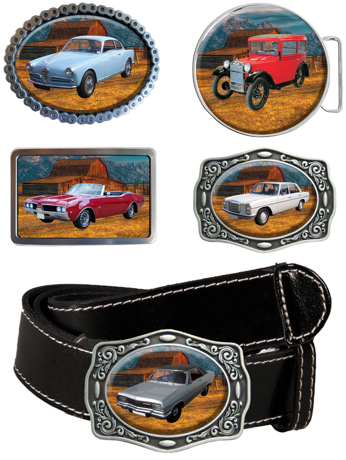Gürtelschnalle historische Fahrzeuge Historic & Classic Car - Marke A Oldtimer