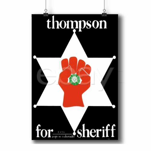 Hunter S Thompson For Sheriff Custom Personalized Art Print Poster Wall Decor