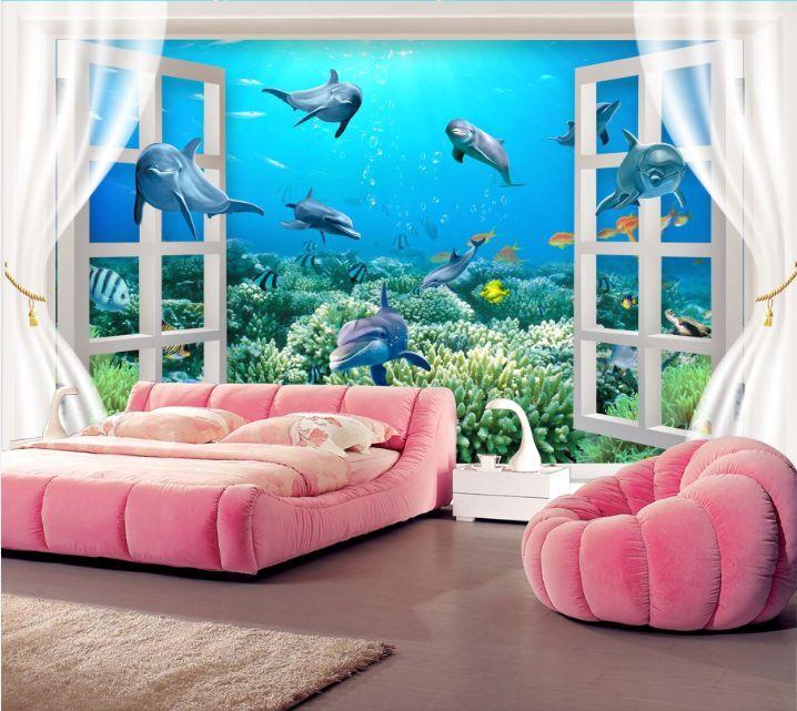3D Window Sea World 6 Paper Wall Print Decal Wall Wall Murals AJ WALLPAPER GB