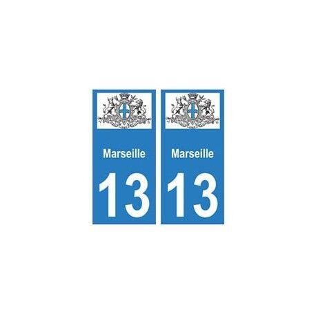 13 Marseille ville autocollant plaque arrondis