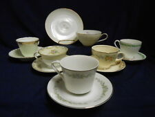 """Mixed Lot Vtg Mid Century """"Mad Hatter Tea Party"""" Set (6) Cups Saucers Lot B14"""