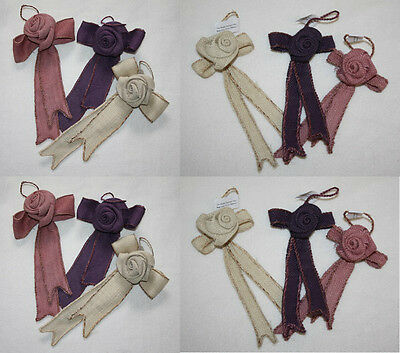 natural hessian hanging ribbon rose bows wedding chair wedding decoration gift