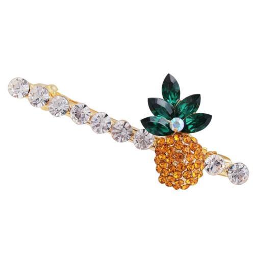 Fashion Women Cute Pineapple Shape Rhinestone Hair Clip Girl Hairpin Accessories