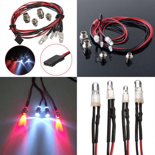 RC LED Night Headlights Headlamps 5x3mm Red/&White LED light for Model Drift Car