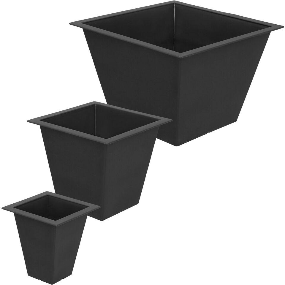 Polyrattan urtepotter 3-dele, variant 2 sort