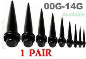 00G-14G Acrylique Droit Taper Expander Kit Écarteurs 5XhmkJef-08070121-860933955