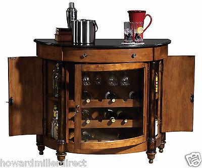 Howard Miller 695-016 Merlot Valley - Umber Finished Wine Cabinet with Granite