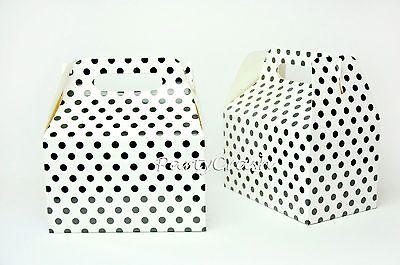 12PCS Polka Dot Minnie Mickey Birthday Treat Goody Boxes Party Supply- White