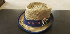 Rare-Vintage-1960-s-New-York-Mets-Straw-Hat-Sold-as-a-Souvenir-at-Shea-Stadium
