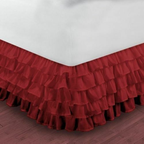 """10 Colors Multi Ruffle BedSkirt All Size 10/""""15/""""20/""""24/""""27/""""Drop Length Select size/"""""""
