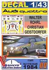 DECAL 1/43 AUDI QUATTRO A2 WALTER ROHRL R.NEW ZEALAND 1984 DnF (03)