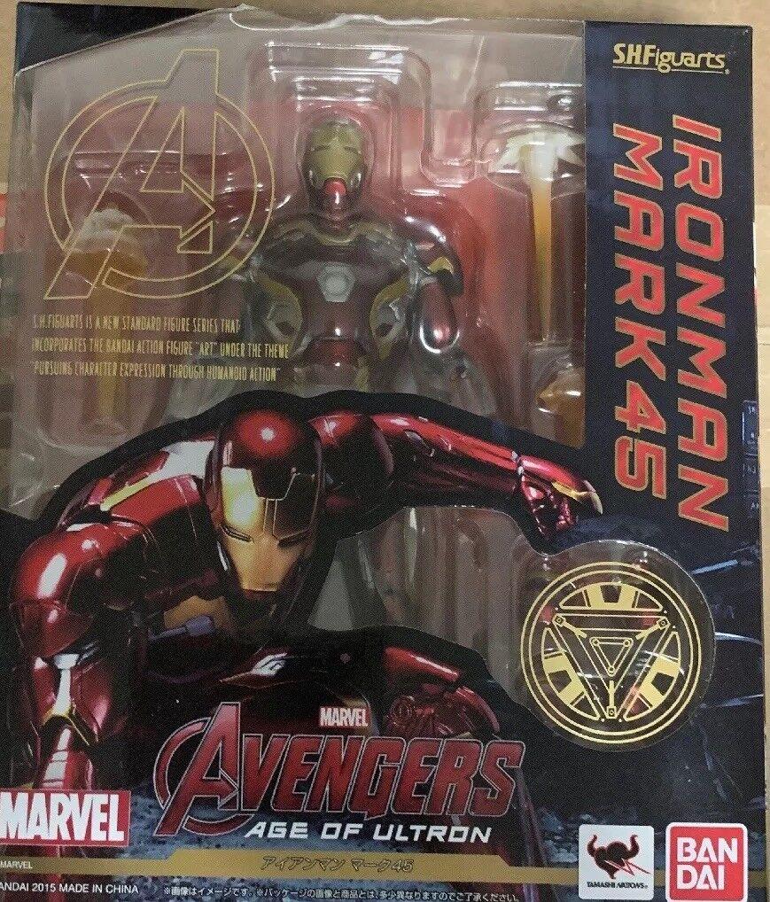 Bandai S.h. figuarts los vengadores edad De Ultron Iron Man Mark 45 Nuevo Rareza