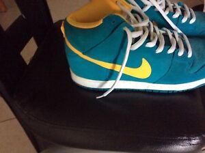 nike dunk daim vert et jaune de de de taille 12 nouveau rare couleur façon 4a2a73