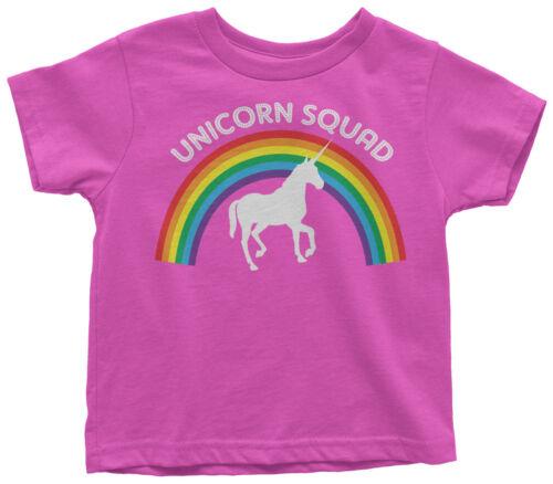 Unicorn Squad Toddler T-Shirt Rainbow Birthday Theme Gift Idea