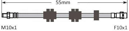 Frein Avant Flex Tuyau de 55 cm pour BMW 3 Série 05-13 E90//91//92//93 BFH4058C