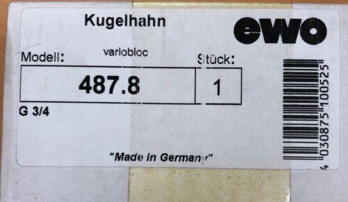 EWO Kugelhahn variobloc G 3/4 487.8
