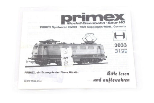 Primex 3033 Spur H0 Betriebsanleitung