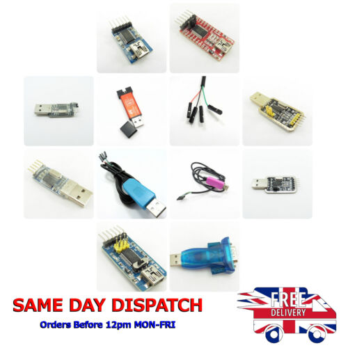 USB to TTL Serial Converters 3.3V 5V Module Connector Boards Cable Adapters