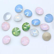 8-18mm Rivoli crystal opal color pointed back rhinestones Nail Art jewelry beads